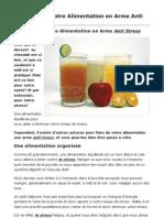 Transformer Votre Alimentation en Arme Anti Stress