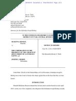 Joseph Bishop Lawsuit Motion