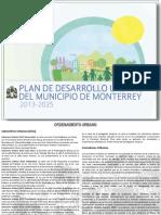 ´PLAN DE DESARROLLO URBANO DEL MUNICIPIO DE MONTERREY 2013-2025