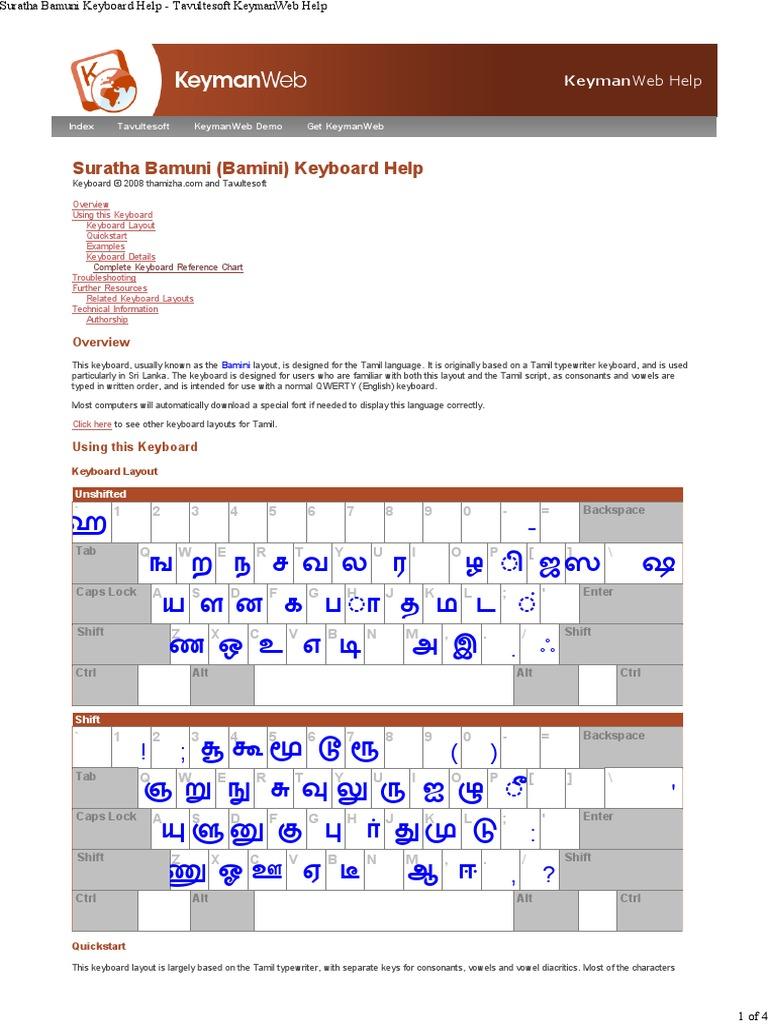 Tamil Keyboard | Computer Keyboard | Writing