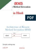 Architecture of Remote Method Invocation (RMI)