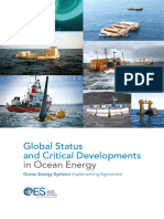 OES IEA Global Status and Critical Developments on Ocean Energy