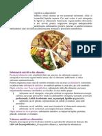 Valoarea Nutritiva Si Importanta Produselor Alimentare