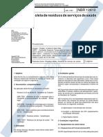 NBR-12 810 - Coleta de Residuos de Servicos de Saude