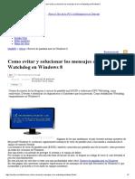 Como Evitar y Solucionar Los Mensajes de Error Watchdog en Windows 8