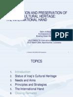 Elwanazi Identification and Preservation of the Iraqi Heritage Areas Presentation