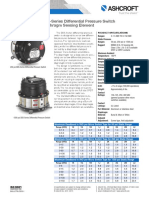 Datasheet Dds Differential Pressure Switch