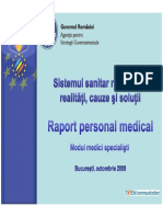2008 Raport Personal Medical Modul Medici Specialisti