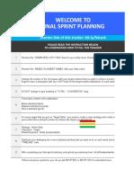 1. November Final Sprint Planning