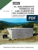aislamiento termico cunicultura