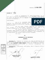 Renuncia de Alejandro Pérez Hualde