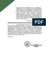 Cantorin Canturin - Inicio de Investigacion Fiscalia Prevencion Del Delito (Licores)