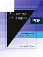 MCSTAY Privacy and Philosophy New Media and Affective Protocol