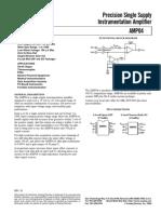 ADI_AMP04 Precision Single Supply Instrumentation Amplifier