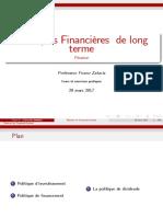 Politique Financière Des Firmes Chap 1 Partie 1