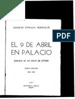EL 9 de Abril en Palacio - Joaquin Estrada
