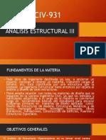 Análisis Estructural III Introduccion