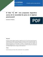 1. Una Propuesta Dogmática Acerca de La Necesidad de Pena en El Régimen Penal Juvenil (Muñoz)