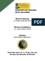 Folleto de Doctrinas Bíblicas I - 2011