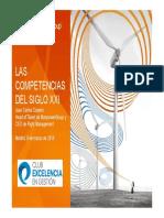 Las Competencias Del Sigloxxi Club de Excelencia en La Gestion 9 Marzo 2016