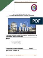 Obtension de Hidrogeno Apartir de Gasificacion de Carbon