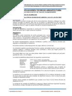 Especificaciones Tecnicas Arquitectura Huanaspampa