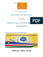 Aardvark Directory of Services of the Government of the Republic of Namibia - May 2018