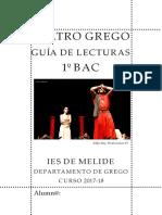 Guía de Edipo Rei e Lisístrata e Lecturas recomendadas. Grego 1º BAC. Curso 2017-18