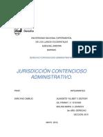 TRABAJO. Jurisdiccion Contencioso Administrativo.