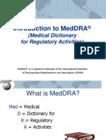 Introduction to MedDRA