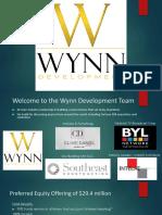 Wynn Development Webinar Overview