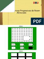 Test de Matrices Progresivas de Raven Abreviado