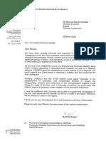 UNESCO Carta Ministra Colombia
