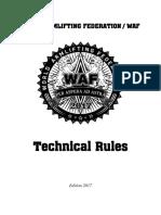 WAF Rule Book 2017