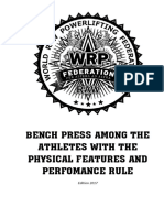 Bench Press Among the Apf and Perfomance Rule 24 06