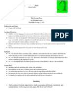 the giving tree lesson plan