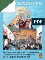 Programa de Fiestas Pascuamayo 2018, Santisteban del Puerto