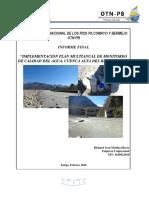 Implementación Plan Multianual Monitoreo Calidad Del Agua-cuenca Alta Bermejo