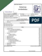 Sistemas Embebidos Plan 2013