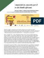 Tre Cuori Per La Musica Cardiologi Musicisti in Concerto Per Il Cuore Dei Bimbi Africani