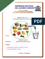 Cantidad de Agua en Los Alimentos