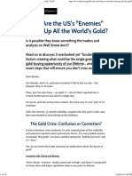 Why Are the US's ''Enemies'' Buying Up All the World's Gold