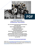 Press Release New York Brass Festival 2018