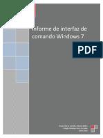 Informe de Interfaz de Comando Windows 7