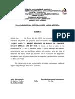 Actas de Proyecto Manual Tecnico de Pollos 2018
