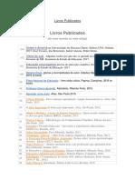 Livros Publicados de Pedro Demo