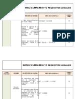 Matriz de Cumplimiento de Requisitos Legales