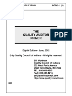 The Quality Auditor Primer