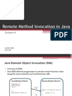Lecture 07 Remote Method Invocation in Java