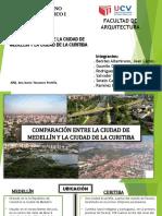 Comparacion de Ciudades Sostenibles Curitiva y Medellin